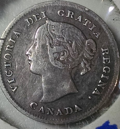 Canadian Victoria 1898 Small Five Cents