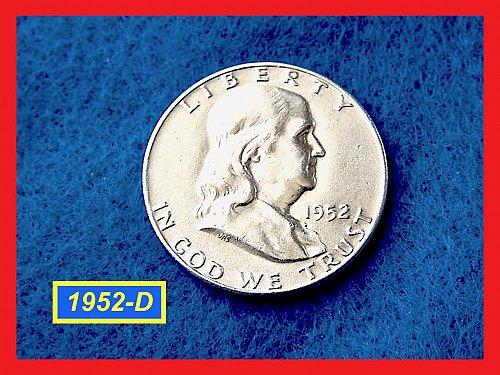 1952-D Franklin Half   ★  (XF-40) ★ (#1831)a