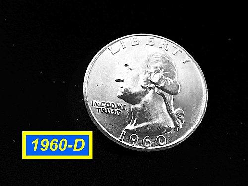 """1960-D  Quarter ☆ """"Brilliant Uncirculated"""" ☆ (#2930)a"""