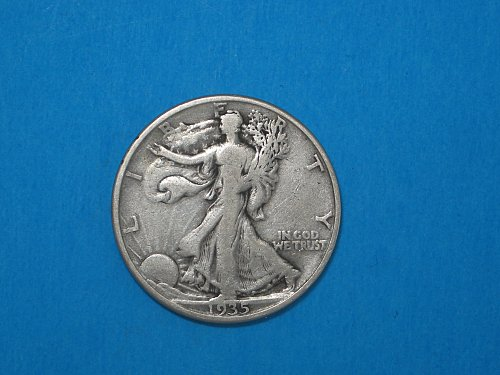 1935-D Walking Liberty Half ** Silver Walker From The Denver Mint
