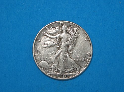 1938 Walking Liberty Half ** Silver Walker From The Philly Mint