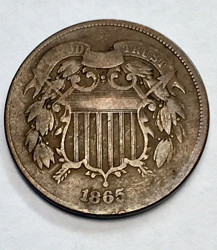 1865 Two Cent Piece - Parcel of Three