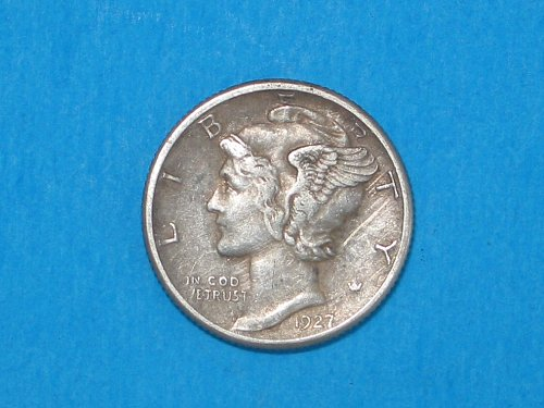 1927-D Mercury Dime ** Sharp XF+ Details