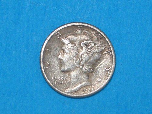 1927-D Mercury Dime ** Sharp XF+ Details