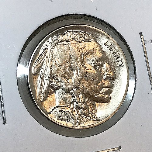 1919 P Buffalo Nickel - Gem BU / MS / UNC