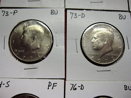 1972-1978-P+D+S+S+S  Kennedy Half Dollar Collection BU-PF & 40% Silver