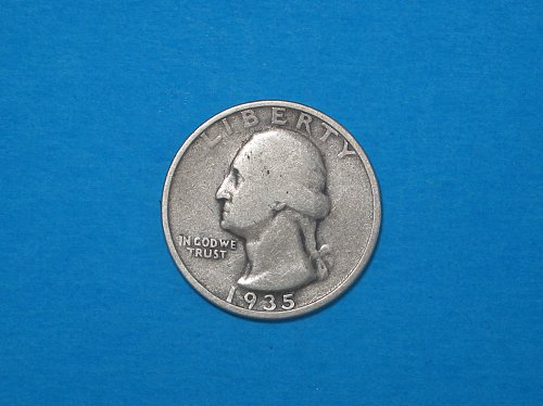 1935-S Washington Silver Quarter