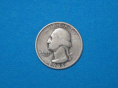 1935-S Washington Silver Quarter