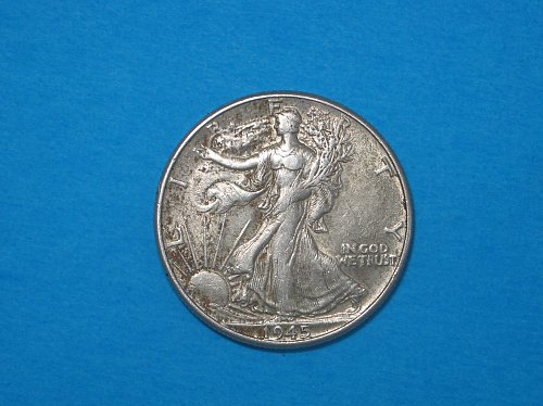 1945 Walking Liberty Half Dollar ** Nice Details