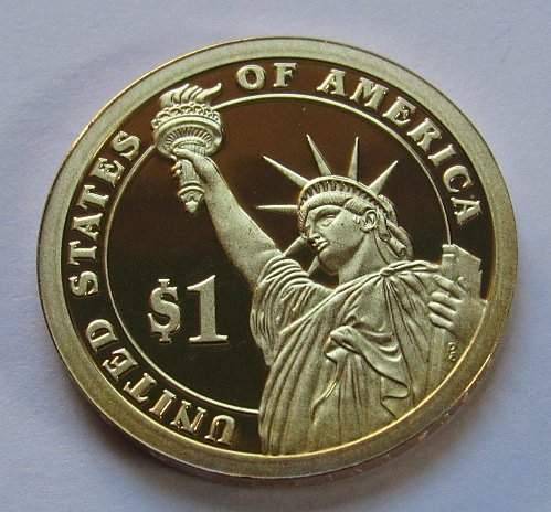 2010-S $1 - Franklin Pierce Presidential Dollar - Deep Cameo Proof - Position B
