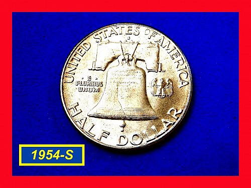1954-S  Franklin  ☆ HIGH Grade with Nice Toning ☆   (#1037a)a