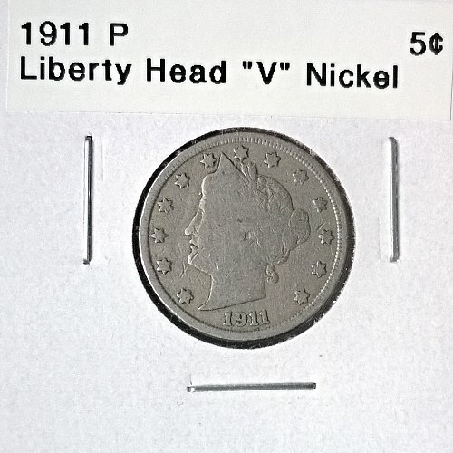 "1911 P  Liberty Head ""V"" Nickel - 4 Photos!"
