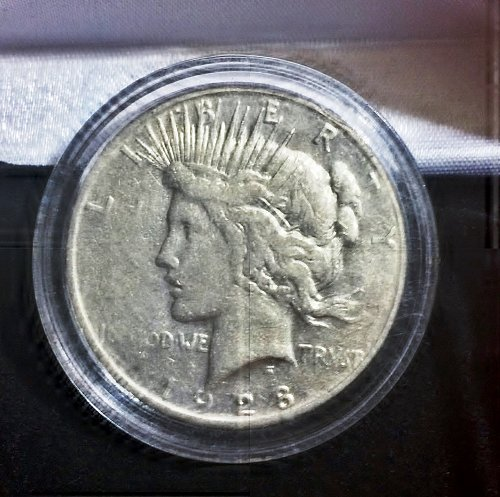 1928-S Silver Peace Dollar XF+ Details