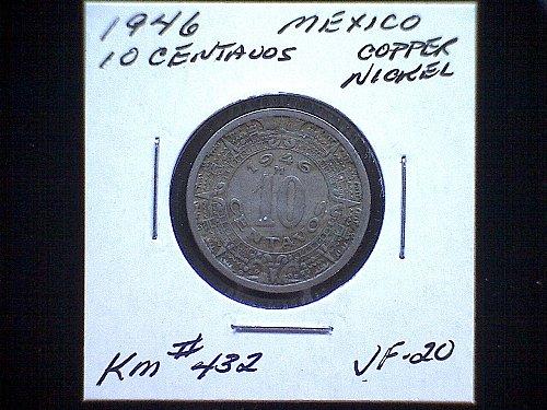 1946 MEXICO TEN CENTAVOS