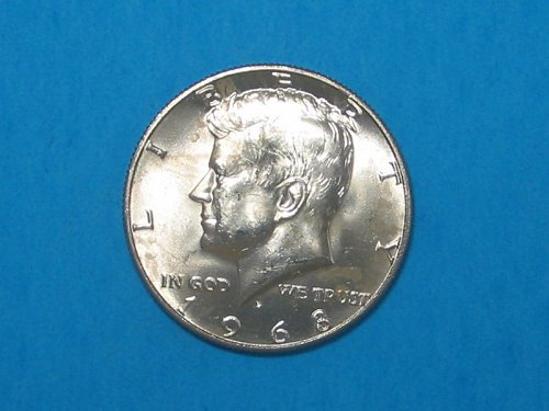 1968-D Kennedy Half ** 40% Silver ** Choice BU From An Original Roll ** Great Lu