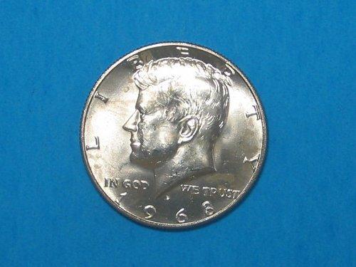 1968-D Kennedy Half ** 40% Silver ** Choice BU From An Original Roll ** Great Lu