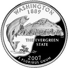 2007  D  WASHINGTON STATE    STATE QUARTER