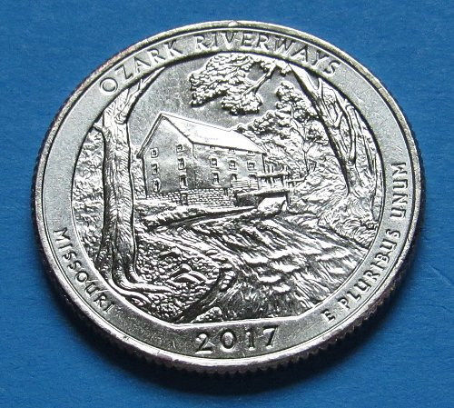 2017-D 25 Cents - Ozark Riverways (Missouri) America the Beautiful Quarter