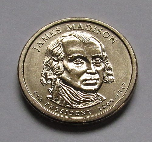 2007-P $1 James Madison Presidential Dollar - Position B