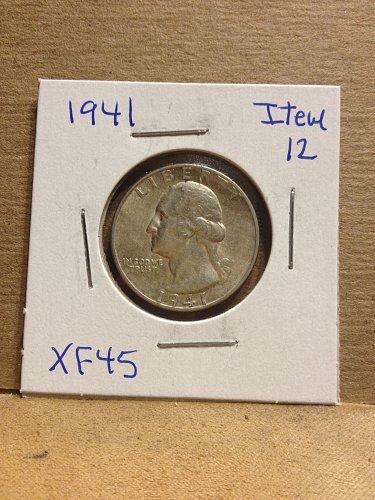 1941 Washington Quarter item-12 XF 45