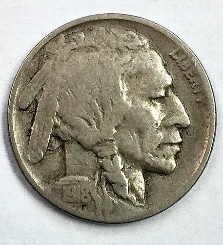 1918 D Buffalo Nickel