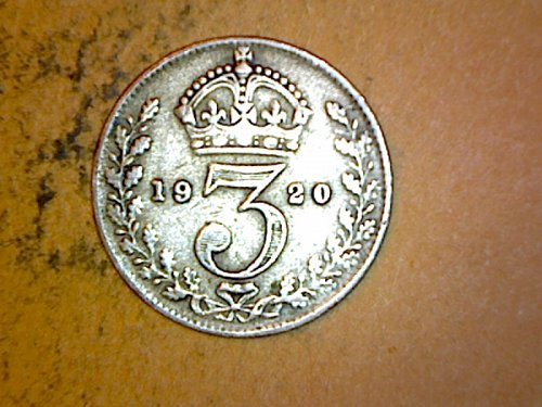 Great Britain 1920 3 Pence Silver
