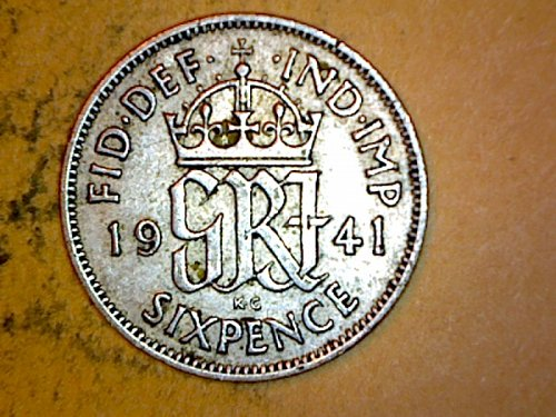 Great Britain 1941 6 Pence Silver