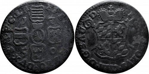 Prince-Bishopric Liege (Belgium) 1 Liard 1750  Variant   0119