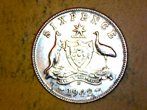 Australia 1942D 6 Pence
