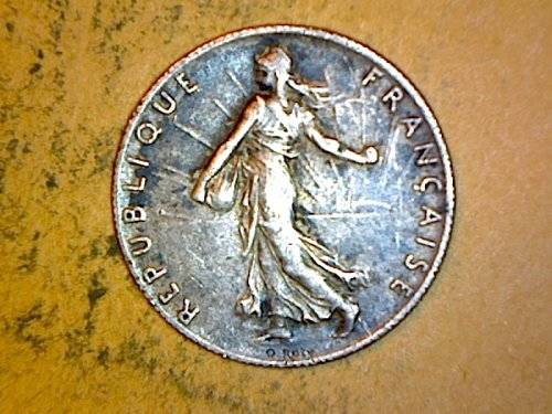 France 1918 50 Centimes Silver