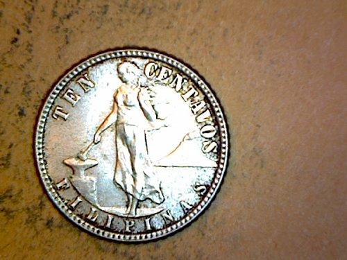 Philippines 1944 10 Centavos Silver