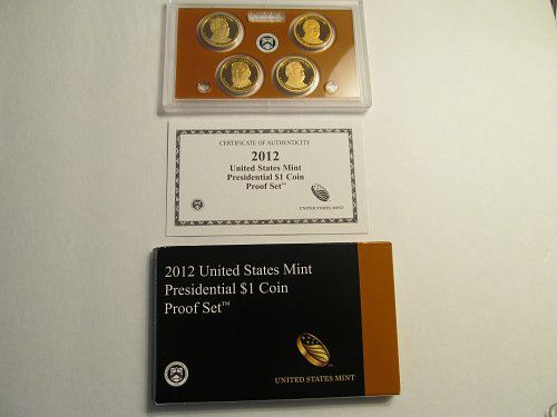 2012 United States Mint Presidential $1 Coin Proof Set