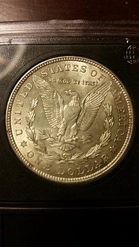 1921 P (Philadelphia) ANACS Graded Vam 58 90% Silver Morgan Dollar Bullion