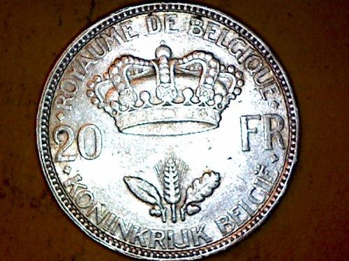 Belgium 20 Francs Silver