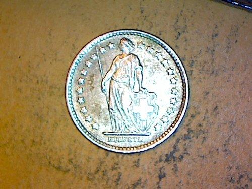 Switzeland 1958 B 1/2 Franc Silver