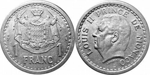Monaco 1943 1 Franc 0128