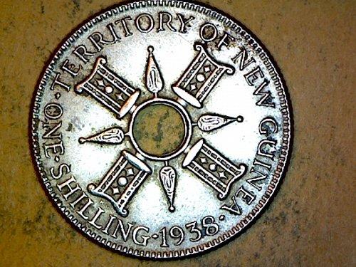 New Guinea 1938 1 Shilling Silver