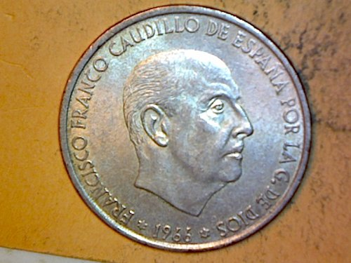 Spain 1966 100 Pesetas  Silver