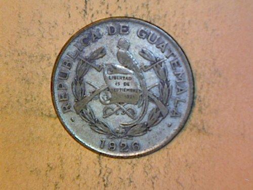 Guatemala 1926 1/4 Quetzal  Silver