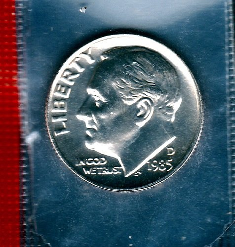 1985 D Roosevelt Dimes - #11