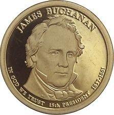 2010 S  PROOF  JAMES BUCHANAN GOLDEN DOLLAR
