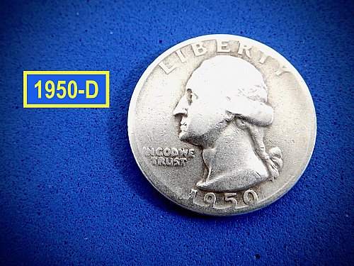 "1950-D Quarter ☆  ""Circulated"" ☆ (#2973.1)b"