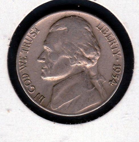 1954 D Jefferson Nickels - #12