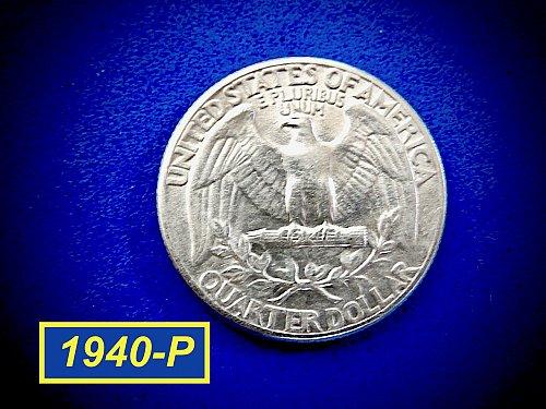 """1940-P Quarter ☆  """"AU-50"""" ☆ (#2968)a"""