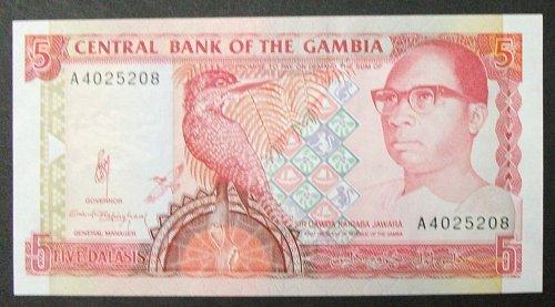 Gambia P12a 5 Dalasis UNC65