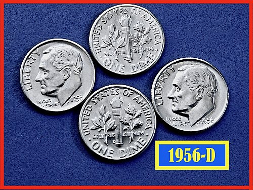 1956-D Dime ☆ BU with Dripping Luster ☆ (#3640.3)a