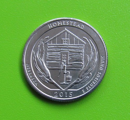 2015-P 25 Cents - Homestead (Nebraska) America the Beautiful Quarter