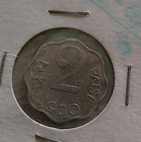 india 1970..2 paisa..cir. Calcutta mint