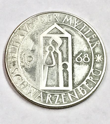 1968 City Of Basel Switzerland Silver medal