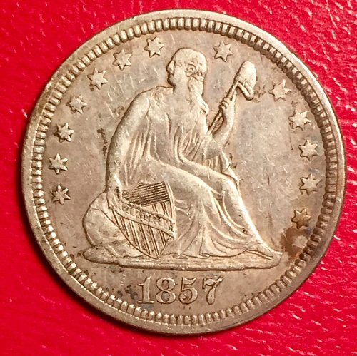 1877 Seated Liberty Quarter